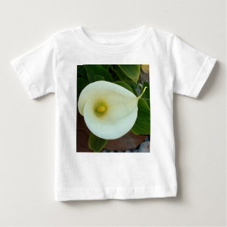 Overhead Shot Of A Heart Shaped Cream Calla Lily Baby T-Shirt