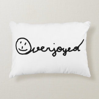 Overjoyed Polster Handwriting Decorative Pillow