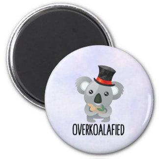 Overkoalafied Pun Cute Koala in Top Hat Magnet