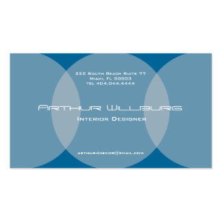 Overlap Circle Business Card Blue