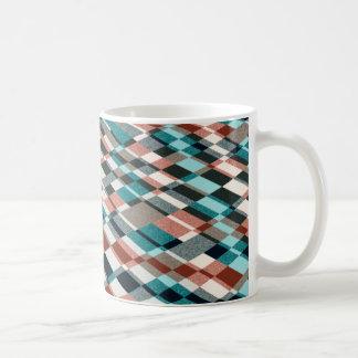 overlapping checkers coffee mug