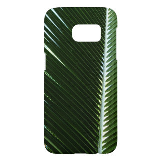 Overlapping Palm Fronds Tropical Green Abstract Samsung Galaxy S7 Case