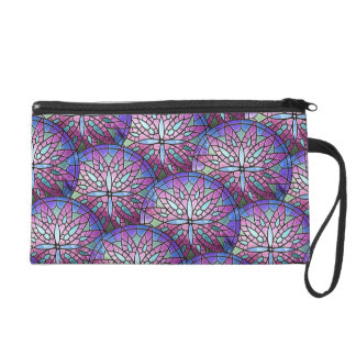 Overlapping Rose Window Wristlet/Cosmetic Bag