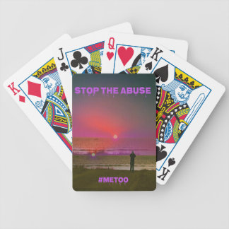 Overlay Beach Sunrise Silhouette #METOO Bicycle Playing Cards