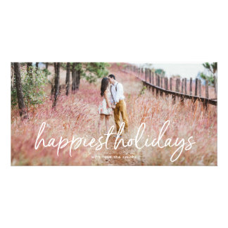 Overlay Lettering Happiest Holidays Photo Card