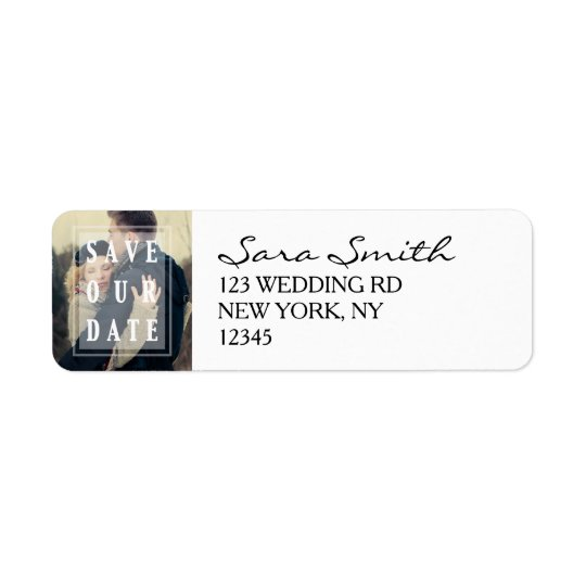 Overlay | Photo Save the Date Address Labels