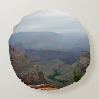 Overlook at Grand Canyon National Park Round Pillow