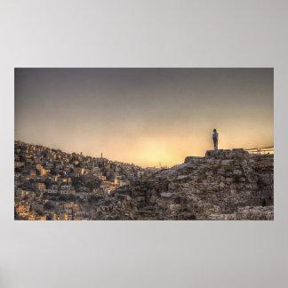 Overlooking Amman Poster