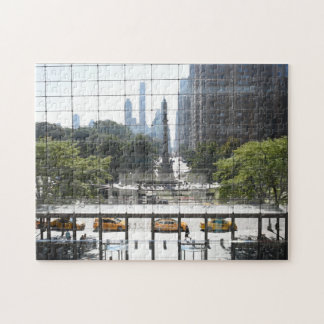Overlooking Columbus Circle New York City Photo Jigsaw Puzzle