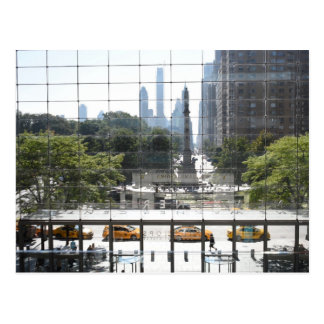 Overlooking Columbus Circle New York City Photo Postcard