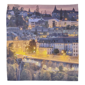 Overlooking Fribourg in the early evening Bandanna
