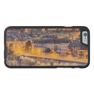 Overlooking Fribourg in the early evening Carved Maple iPhone 6 Case