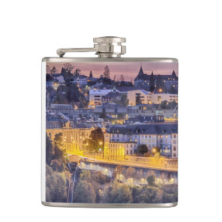 Overlooking Fribourg in the early evening Hip Flask