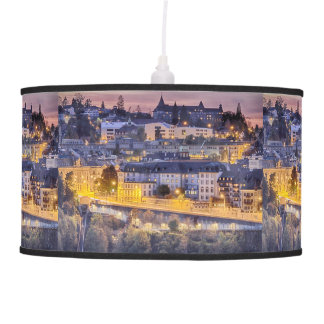 Overlooking Fribourg in the early evening Pendant Lamp