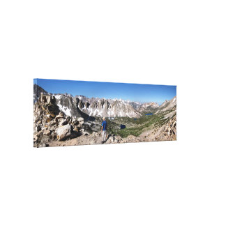 Overlooking John Muir Trail from Kearsarge Pass Canvas Print