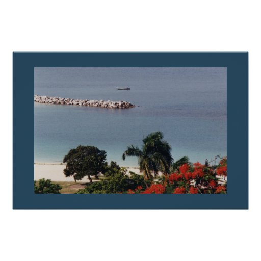 Overlooking Public Beach Montego Bay Large Canvas Posters