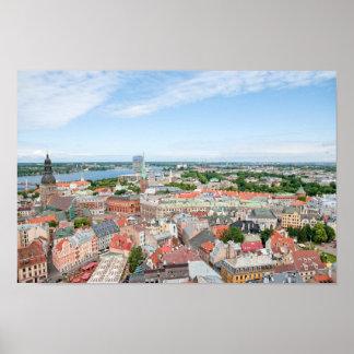 Overlooking Riga Latvia Poster