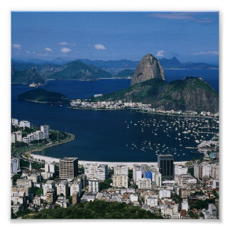 Overlooking Rio Poster