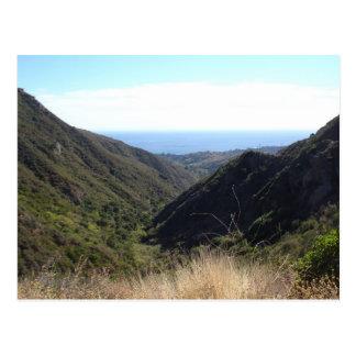 Overlooking the Pacific Ocean Postcard