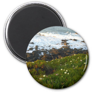 Overlooking the Sea Cliffs in Crescent City 2 Inch Round Magnet