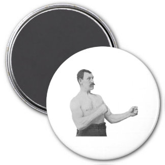 Overly Manly Man Meme 3 Inch Round Magnet