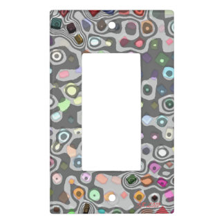 Overpopulated light switch cover single rocker