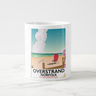 Overstrand Norfolk Beach travel poster Large Coffee Mug
