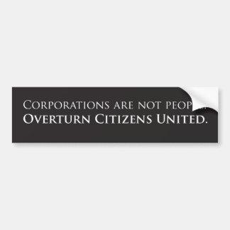 Overturn Citizens United Bumper Sticker