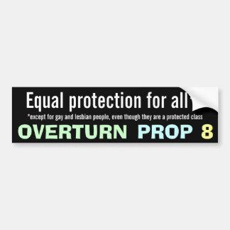 Overturn Prop 8 Bumper Sticker