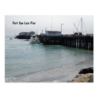 Overview of Harford Pier, Port San Luis, Avila Postcard