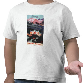 Overview of the Banff Springs Hotel Poster Tees
