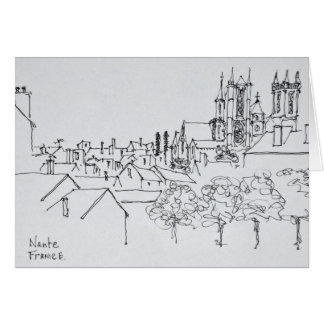 Overview of the City | Nantes, France Card