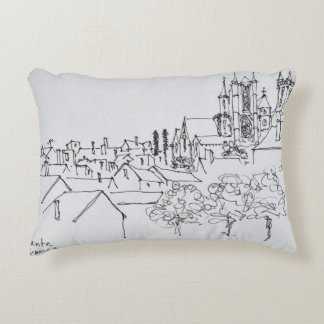 Overview of the City | Nantes, France Decorative Pillow