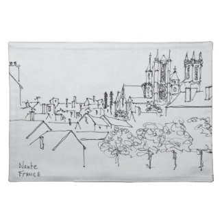 Overview of the City | Nantes, France Placemat