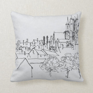 Overview of the City | Nantes, France Throw Pillow