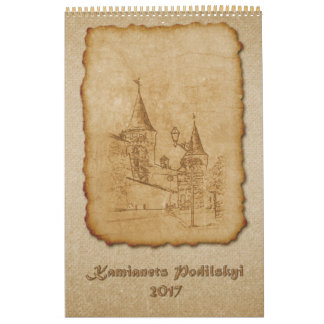 Overview views of the city Kamianets Podilskyi Calendar