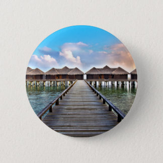 Overwater Bungalows 2 Inch Round Button