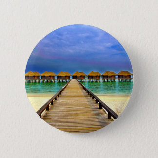 Overwater bungalows at Sheraton Maldives 2 Inch Round Button