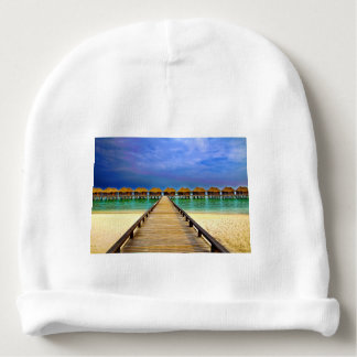 Overwater bungalows at Sheraton Maldives Baby Beanie