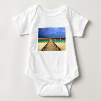 Overwater bungalows at Sheraton Maldives Baby Bodysuit