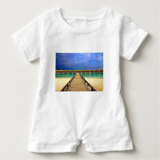 Overwater bungalows at Sheraton Maldives Baby Romper