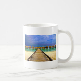 Overwater bungalows at Sheraton Maldives Coffee Mug