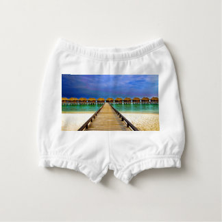 Overwater bungalows at Sheraton Maldives Diaper Cover