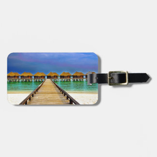 Overwater bungalows at Sheraton Maldives Luggage Tag