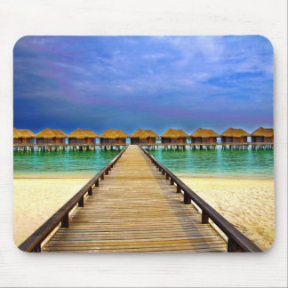 Overwater bungalows at Sheraton Maldives Mouse Pad