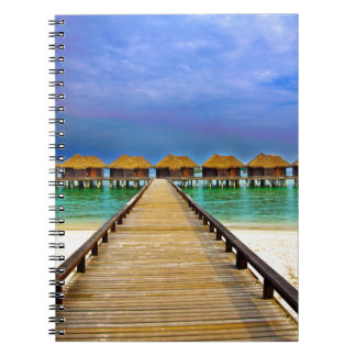 Overwater bungalows at Sheraton Maldives Note Books
