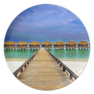 Overwater bungalows at Sheraton Maldives Plate