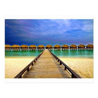 Overwater bungalows at Sheraton Maldives Postcard