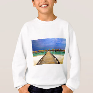 Overwater bungalows at Sheraton Maldives Sweatshirt