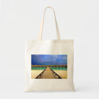Overwater bungalows at Sheraton Maldives Tote Bag